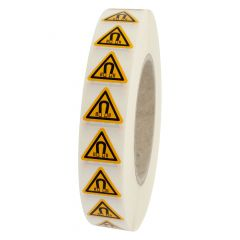 Warnung magnetisches Feld, Warnzeichen W006, ASR A1.3, Vinyl, gelb-schwarz, Seitenlänge: 25 mm