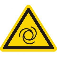 Warnung automatischer Anlauf, Warnzeichen W018, ASR A1.3, Vinyl, gelb-schwarz, Seitenlänge: 25 mm