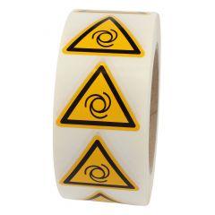 Warnung automatischer Anlauf, Warnzeichen W018, ASR A1.3, Vinyl, gelb-schwarz, Seitenlänge: 50 mm