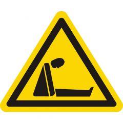 Warnung Ersticken (Sauerstoffmangel), Warnzeichen, Vinyl, gelb-schwarz, Seitenlänge: 50 mm