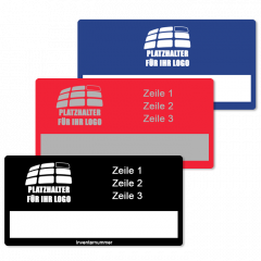 Individual property labels - Choose your own text, material, size, color and further characteristics