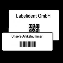 Individuelle Barcodeetiketten - Bestimmen Sie Material, Größe, Barcode-Typen und weitere Merkmale