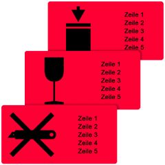 Individual shipping labels - Choose your own text, size and layout