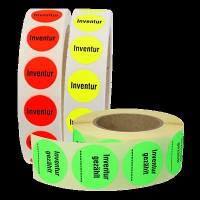 Markierungspunkte bedruckt - Inventur