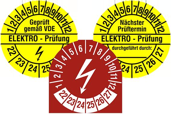 Prüfplaketten Elektro