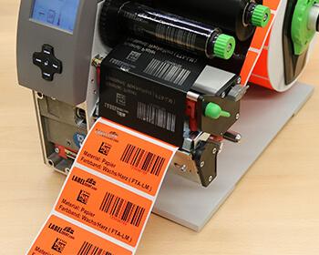Mischfarbbänder für den Druck beschichteter Papieretiketten