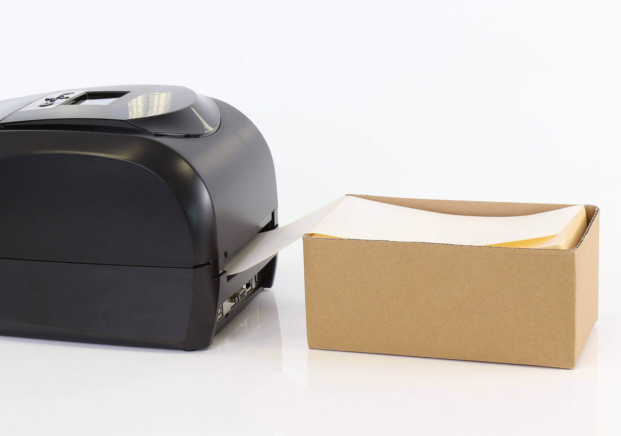 Drucker mit Leporello Etiketten
