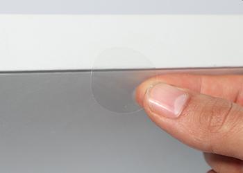 transparente Verschlussetiketten