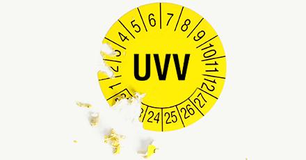 UVV Plaketten mit Manipulationsschutz