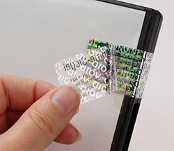 Siegeletikett Polyester Void Hologramm