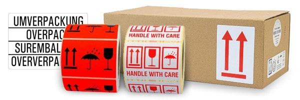 Versandetiketten selbstklebend für Paketke